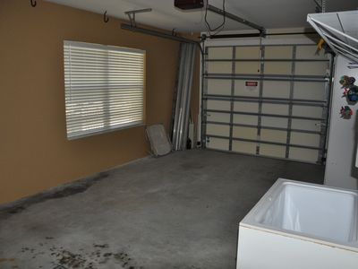 Nice spacious garage with bait freezer.