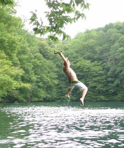 Lake Nantahala house rental - Fun Rope Swing located near the house