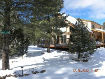 Angel Fire house rental - Wintertime at Angel's Trail.
