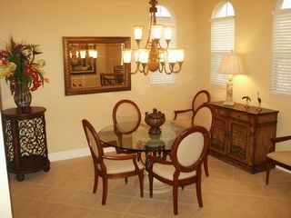 Naples townhome photo - Formal Dining room seats up to 6
