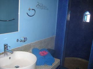 Playa del Carmen condo photo - Blue domed mosaic moroccan style shower
