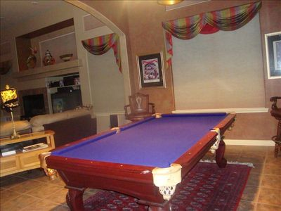 pool room adjacent to family room