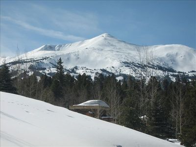 View of Breckenridge Ski Resort from the patio