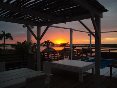 Sunset...like ALL times of day, are simply beautiful at Bamboo House.