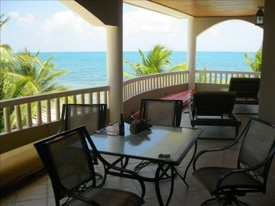 Enjoy outdoor dining/beverages overlooking the Caribbean Sea!