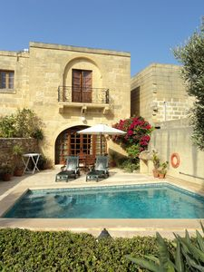 Converted farmhouse 'Arzella' with pool and garden.MTA accredited