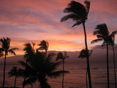 Maalaea condo rental - Sunsets just don't get any better than this. Different picture every day