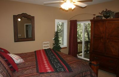 Guest Bedroom (2nd Floor) with King Bed and Private Balcony