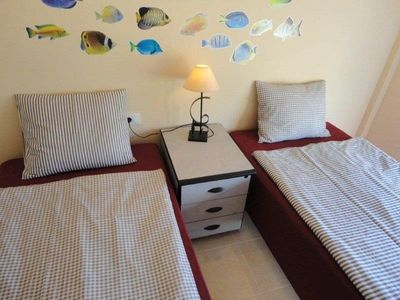 Rio house rental - Third bedroom with 2 single beds