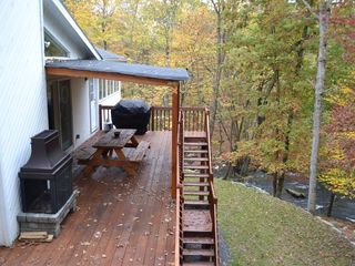 Bushkill house photo - The deck with the view of the stream