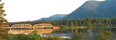 the Noxon bridge and Clark Fork river