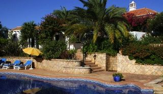 Alvor farmhouse photo - View from pool towards guest house and main house