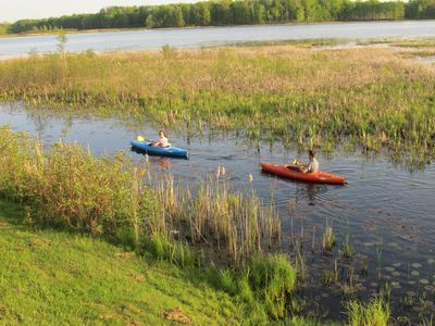 Kayaking is one of the many things to do while vacationing at Lost Lake