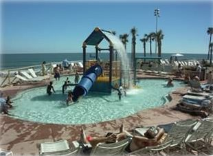 Kids Water Park on Pool Deck At Ocean Walk