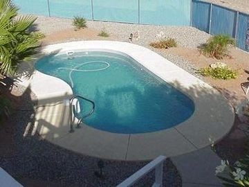 Lake Havasu City house rental - Heated Pool from Patio Deck....Chaises not shown.