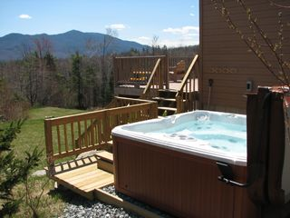 Franconia house photo - Private hot tub