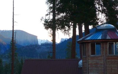 View of home and also El Capitan and Half Dome, Yosemite Valley