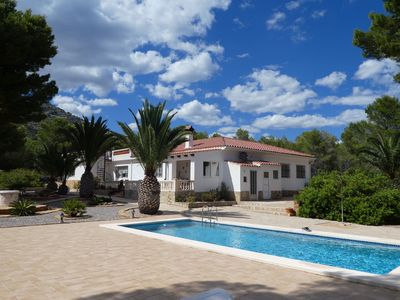 Villa with big pool, in a nature protection park Sierra d'Irta, relax in nature