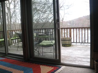 Brewster house photo - outer deck overlooking lake