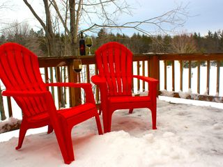 Crystal Mountain, Thompsonville lodge photo - Deck A right off upstairs loft. Kick back relax and enjoy Northern Michigan
