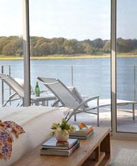 Southampton house photo - Master bedroom deck for endless afternoons of relaxation