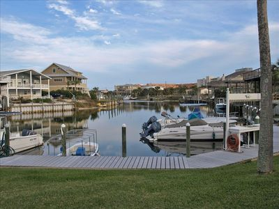 Destin townhome rental - View from back of unit, right on the canal!