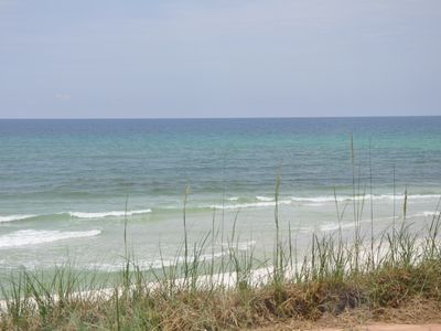 Emerald water, sugar white sand, and sea oats! Can it be any more beautiful?