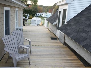 York Beach apartment photo - Oversized deck offers tranquility and opportunity to rest and vacationing