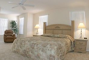 Executive master bedroom with extra king size bed