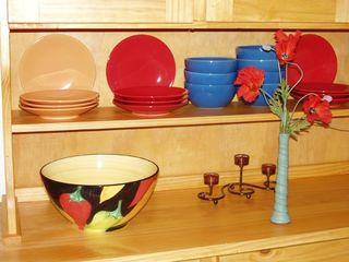 Taos house photo - Dine on new colorful ceramic dishes