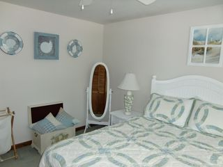 Lake Winnisquam condo photo - Cottage Feel Master Bedroom with AC and Ceiling Fan
