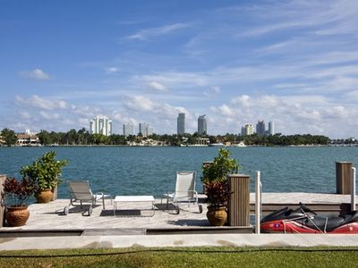 Private Boat Dock Overlooking Beautiful Miami Bay