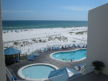Orange Beach condo rental - 2 of our 4 pools and beach