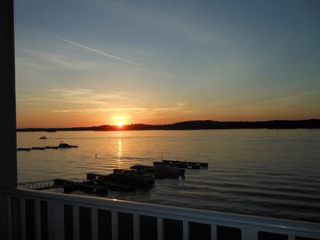 Lake Martin condo rental - Enjoy the sunsets on your relaxing porch...