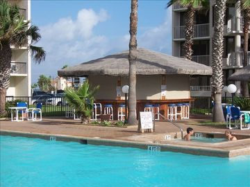 South Padre Island condo rental - Large Pool & Hot Tub with Beverage and Snack bar open most of the year.