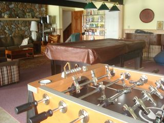 Raymond lodge photo - Basement playroom offers-pool table- fooose ball, air hockey and ping pong