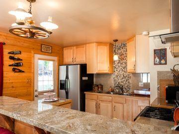 Peter Pan cabin rental - Newly Remodeled kitchen with Granite Countertops