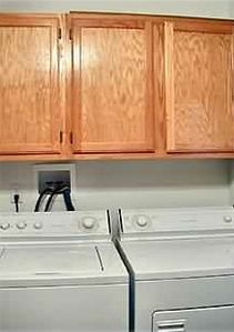 Laundry Room has Washer, Dryer and Laundry Sink