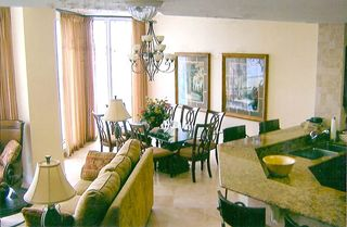 Silver Beach Towers Resort condo photo - Living and Dining Area