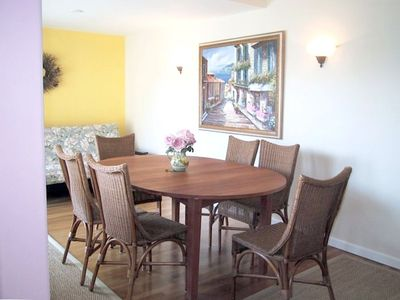 Separate formal Dining room seats 6-8 and opens to back deck