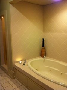 Jacuzzi w/ separate shower,double vanity in master bath & huge walk-in closet