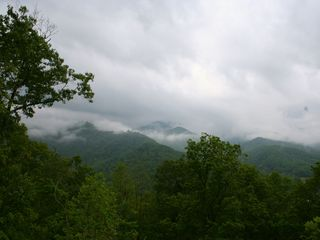 Bryson City chalet photo - Heres your view from the deck...above the clouds!