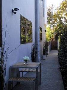 Private Patio Entrance
