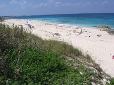 Great Guana Cay house rental - The luscious pink-sand beach stretches for miles and is never crowded.