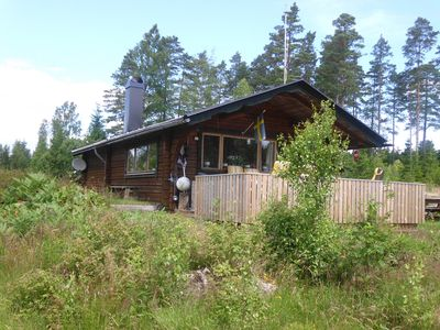 Small cozy Swedish wooden house