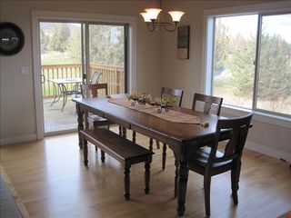 Eagle Crest house photo - Dining table that is able to seat ten, additional chairs available.