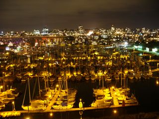 Vancouver townhome photo - View of Marina at Night