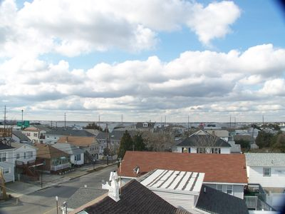 Seaside Heights condo rental - Bay view from rooftop terrace