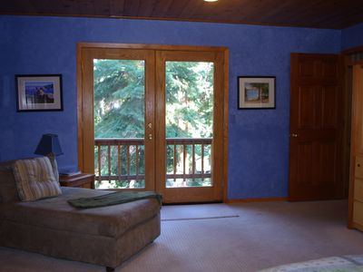 Agate Bay house rental - Master Bedroom French Doors to private deck