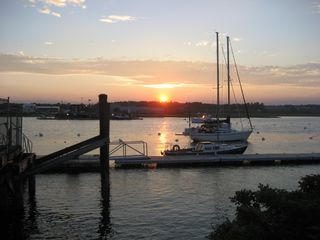 Wells townhome photo - Sunset over Wells Harbor